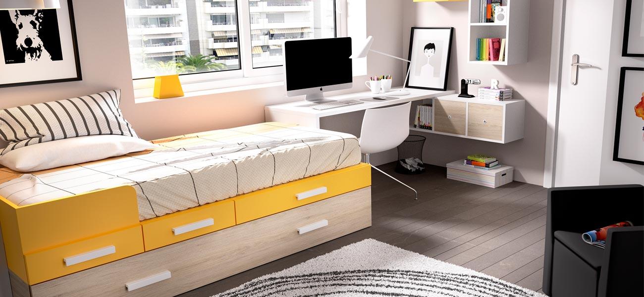 Dormitorios juveniles poco espacio dise os - Disenos de cuartos juveniles ...