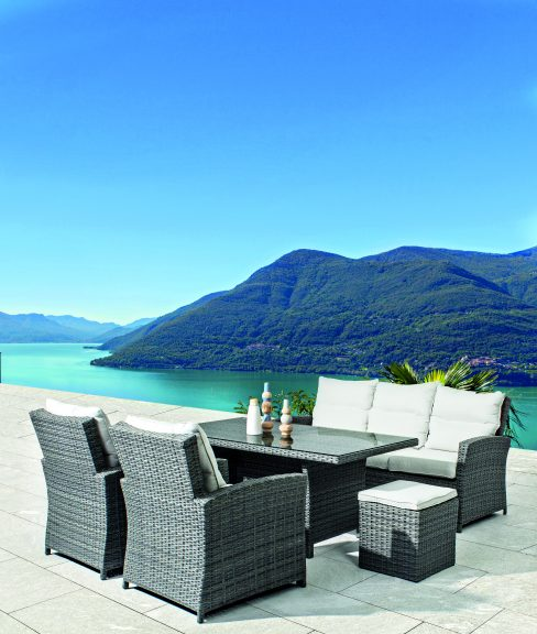 The most sale outdoor sofas and dining table tset