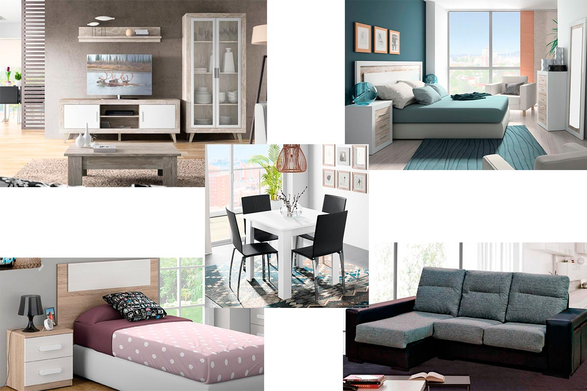 Pack de apartamento dise o vintage muebles gavira for Muebles apartamento
