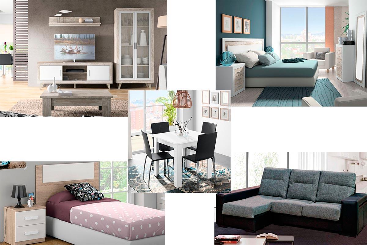 Pack de apartamento dise o vintage muebles gavira for Linea actual muebles europolis