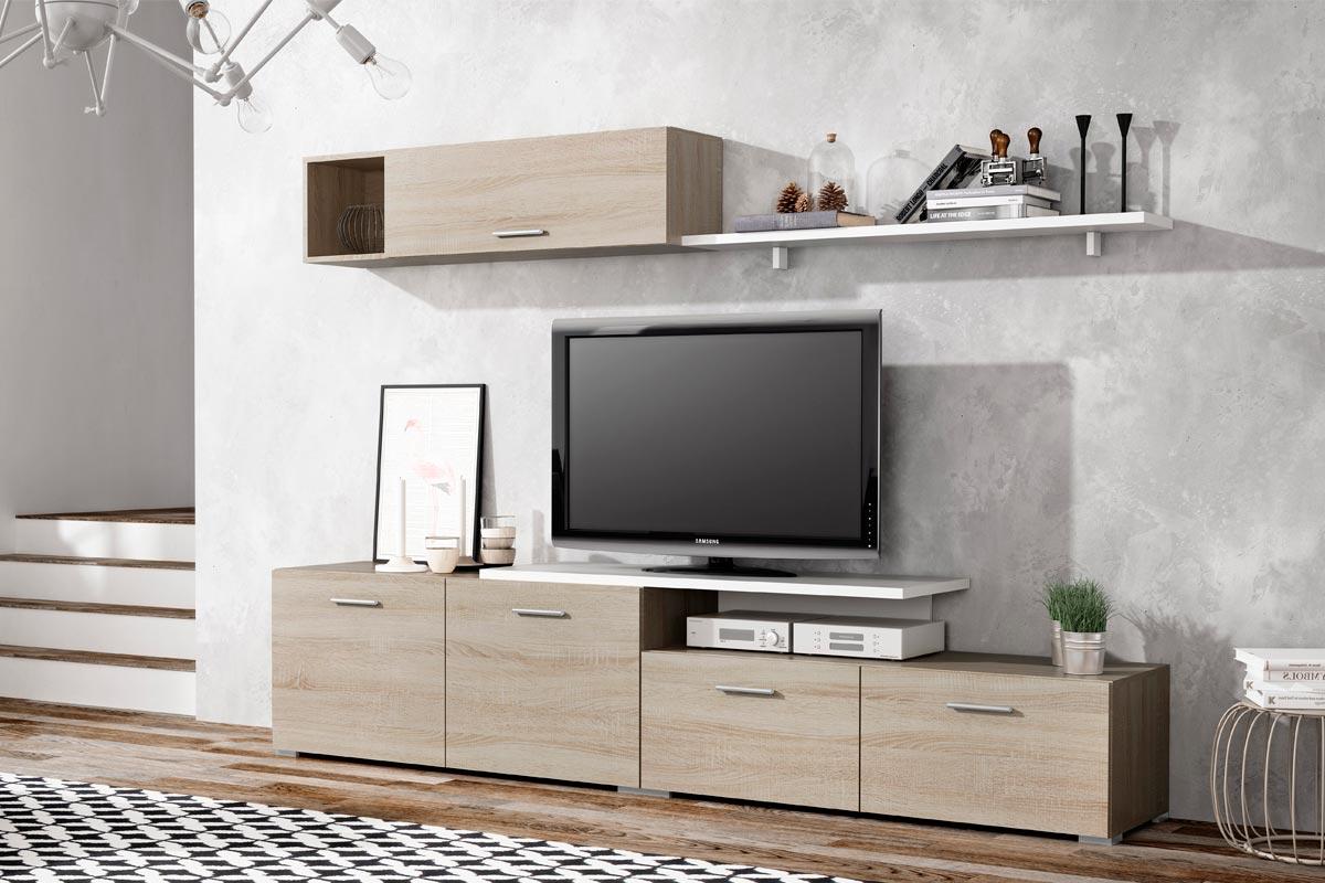 Modular completo de l nea actual muebles gavira for Linea actual muebles europolis